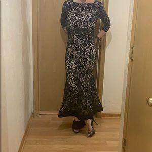 Black lace ballgown
